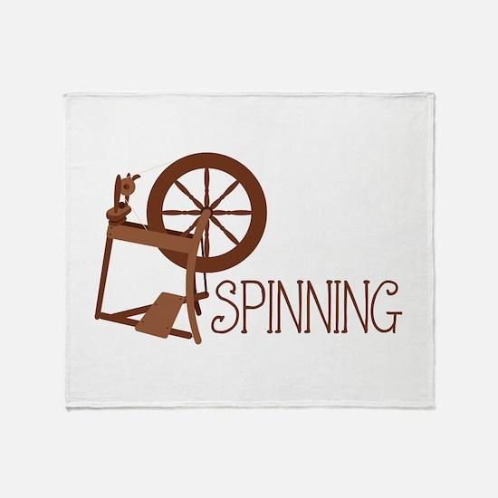 Spinning Wheel Throw Blanket