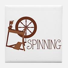 Spinning Wheel Tile Coaster