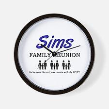 Sims Family Reunion Wall Clock