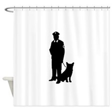 K-9 Police Officer Shower Curtain