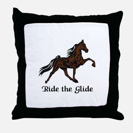 Ride The Glide Throw Pillow