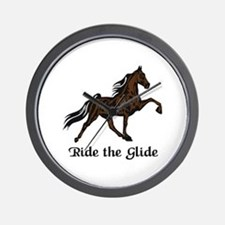 Ride The Glide Wall Clock