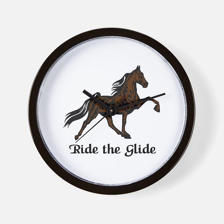 Ride The Glide Wall Clock
