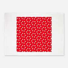 red white stars 5'x7'Area Rug