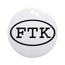 FTK Oval Ornament (Round)