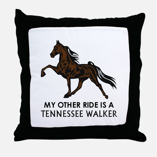 Ride Is A Tennessee Walker Throw Pillow