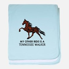 Ride Is A Tennessee Walker baby blanket