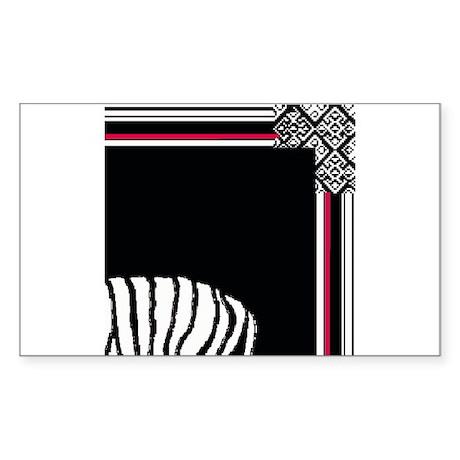 Bongo tile mural shop #2 Rectangle Sticker