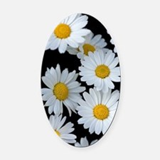 Funny Daisies Oval Car Magnet