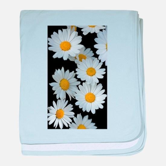 black daisy baby blanket