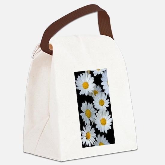 black daisy Canvas Lunch Bag