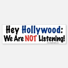 Hey Hollywood BumperBumper Bumper Sticker