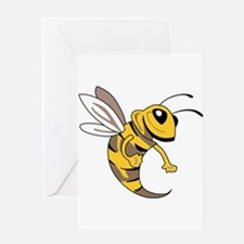 YELLOW JACKET MASCOT Greeting Cards