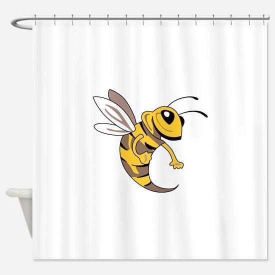 YELLOW JACKET MASCOT Shower Curtain