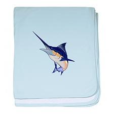BLUE MARLIN baby blanket