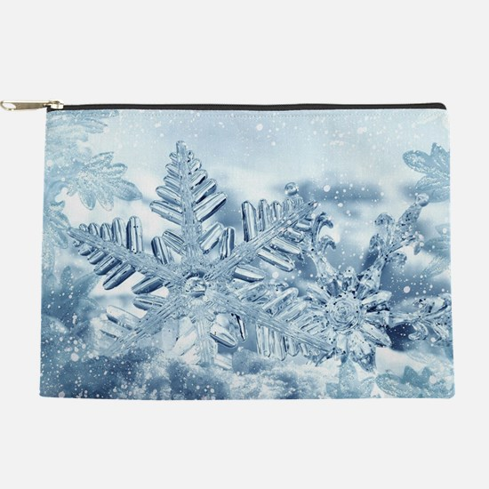Snowflake Crystals Makeup Pouch