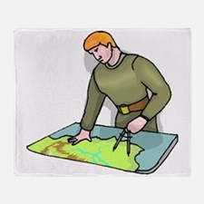 Geographer Throw Blanket