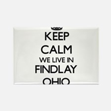 Keep calm we live in Findlay Ohio Magnets