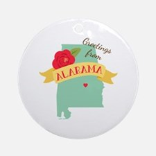 Greetings from Alabama Ornament (Round)