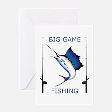 Big Game Fishing Greeting Cards