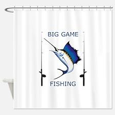 Big Game Fishing Shower Curtain
