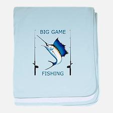 Big Game Fishing baby blanket