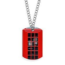 British Phone Box Dog Tags