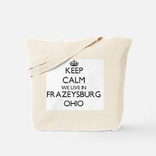 Keep calm we live in Frazeysburg Ohio Tote Bag