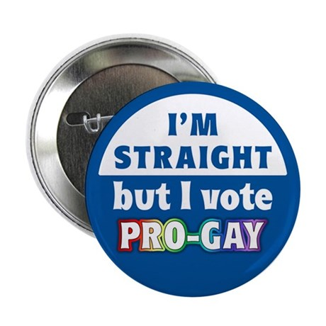 """Vote Pro-Gay"" 2.25"" Button (10 pack)"