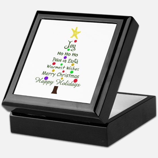 CHRISTMAS TREE GREETINGS Keepsake Box