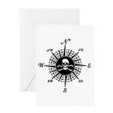 Compass Rose II Greeting Card