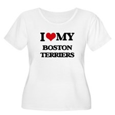 I love my Boston Terriers Plus Size T-Shirt