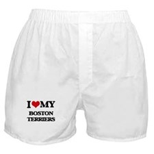 I love my Boston Terriers Boxer Shorts