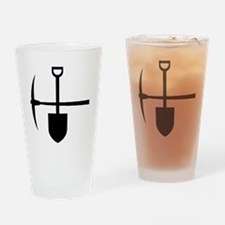 Gardening Tools Drinking Glass