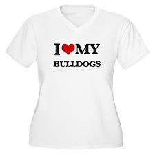 I love my Bulldogs Plus Size T-Shirt