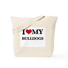 I love my Bulldogs Tote Bag