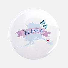 "Alaska Forget Me Not 3.5"" Button"