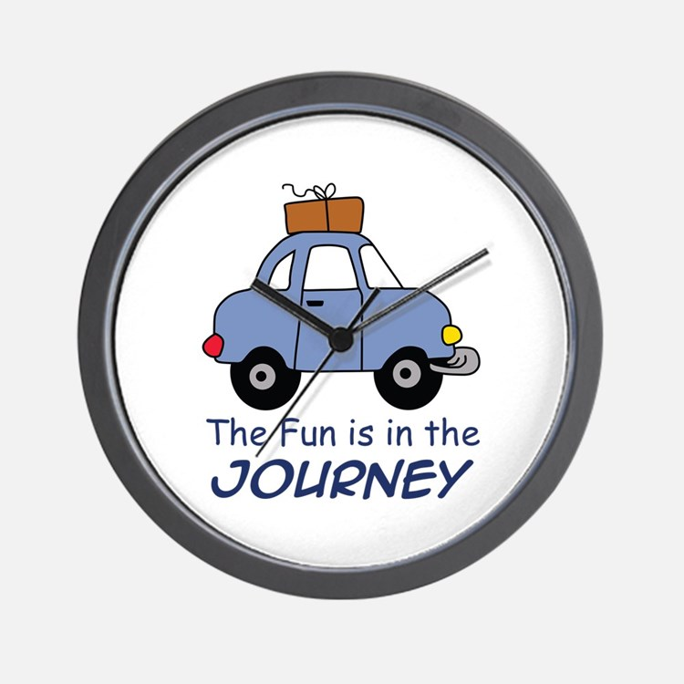 Fun Is In The Journey Wall Clock