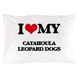 Catahoula leopard dog Pillow Cases