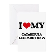 I love my Catahoula Leopard Dogs Greeting Cards