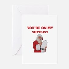 You're On My Shitlist Greeting Cards (Pk of 10