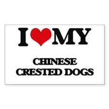I love my Chinese Crested Dogs Decal