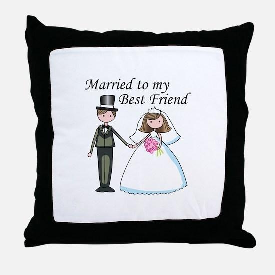 Best Friend Throw Pillow