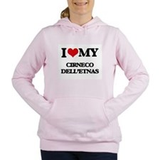 I love my Cirneco Dell'E Women's Hooded Sweatshirt