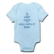 Keep Calm and Roll With It Baby Body Suit