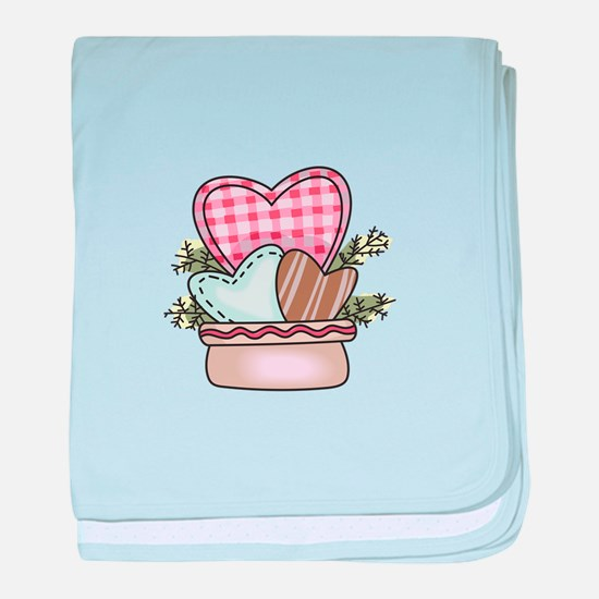 Heart Basket baby blanket