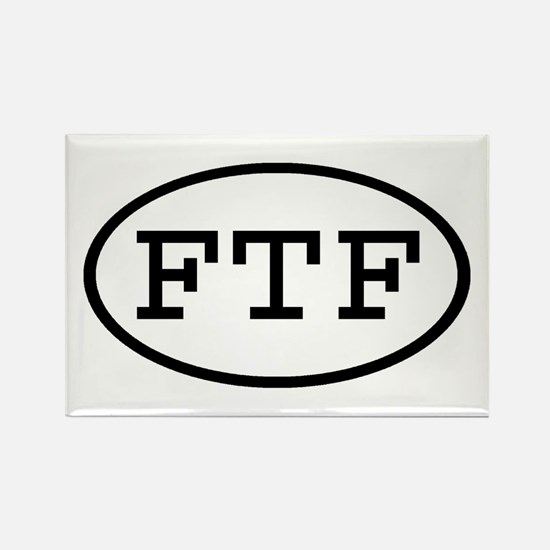 FTF Oval Rectangle Magnet