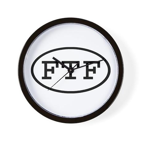 FTF Oval Wall Clock