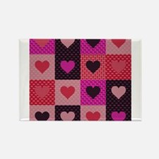 Hearts Quilt Magnets
