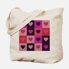 Hearts Quilt Tote Bag